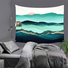 Hot sale creative beautiful scenic wall hanging tapestry home decoration tapiz pared L 200*150cm M 150*130cm LZC10