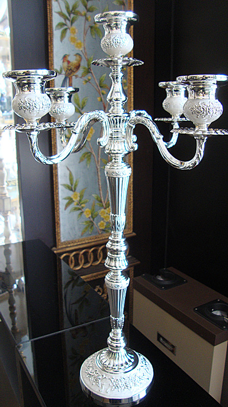 Cm height branch floor candelabra silver metal