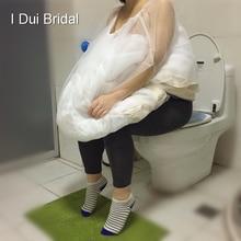 Bir Boyut Fit Tüm Gelin Kombinezon Buddy Drop Shipping düğün elbisesi Toplamak Etek Jüpon Tasarrufu Gelen Tuvalet Su