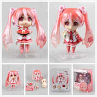 Lindo Nendoroid Anime Hatsune Miku Sakura Miku 500 #10 cm PVC figura de acción coleccionable modelo muñeca de juguete KT657