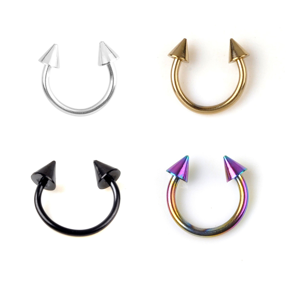 6PCS Punk Lip Chin Ring Ear Stud Piercing Lip Rings Nostril Hoop Nose Hoop Ring Cartilage Earring Ring Piercing