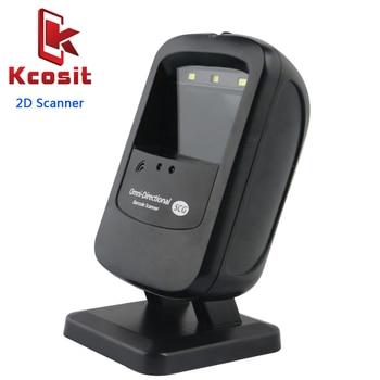 Desktop Scanner 2D Scanner Ticketing QR Code Scanner USB Barcode Reader 1D 2D scanning platform USB for Retail Store Supermarket