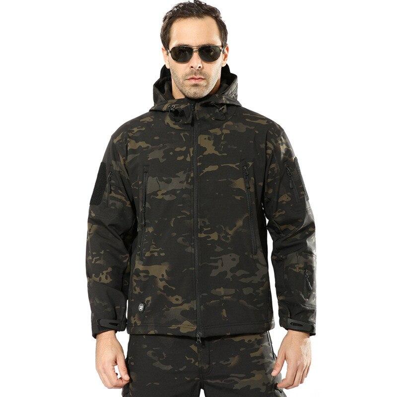 Image 3 - Military Jacket Men Winter Camouflage Tactical Waterproof  Windbreaker Hooded Male Camo Coat Plus Size 5XL Bomber Army Jacket  MenJackets