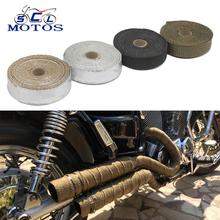 Sclmotos-motocykl rury wydechowej nagłówek Termoizolować odporne DOWNPIPE Thermo Turbo dla samochodów motocyklowych z włókna szklanego ciepła Tarcza taśmy tanie tanio Przyspiesza Uniwersalny Z ZSDTRP 2 5cm ISO9001 0 3 kg masy 0 cali w Włókno szklane Virgin Akcesoria motocyklowe tytanowy czarny srebrny