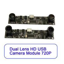 1/4 CMOS OV9712 Sensor de imagem a Cores Dual USB Módulo Da Câmera de Lente Para Câmera VR 3D, Impressora 3D