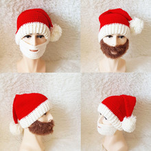 Knit Christmas Hats Santa Claus Hat Mustache Caps Adult XMAS Decor New Years Gifts Home Party Supplies