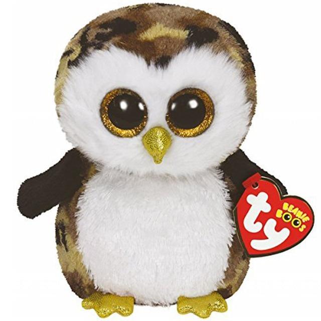 Pyoopeo Ty Beanie Boos 10 25cm Owliver The Owl Plush Medium Soft
