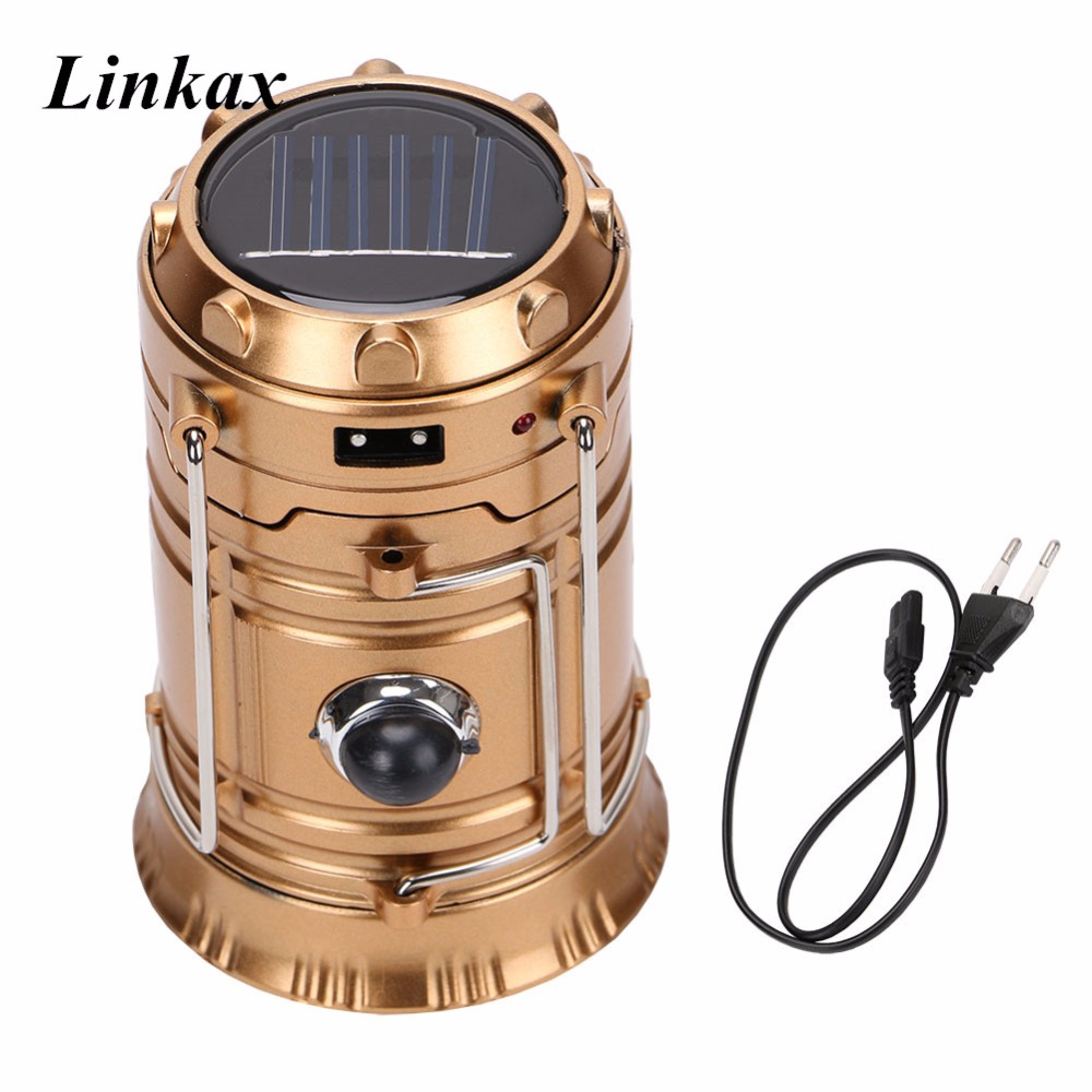 Rechargeable Solar Camping Lantern 300 Lumens 2 LED Light Source Poweful Portable Camping Lanterns Outdoor Tent Light Lamp led solar powered portable lanterns rechargeable outdoor emergency camping lantern lamp tent top hook lighting