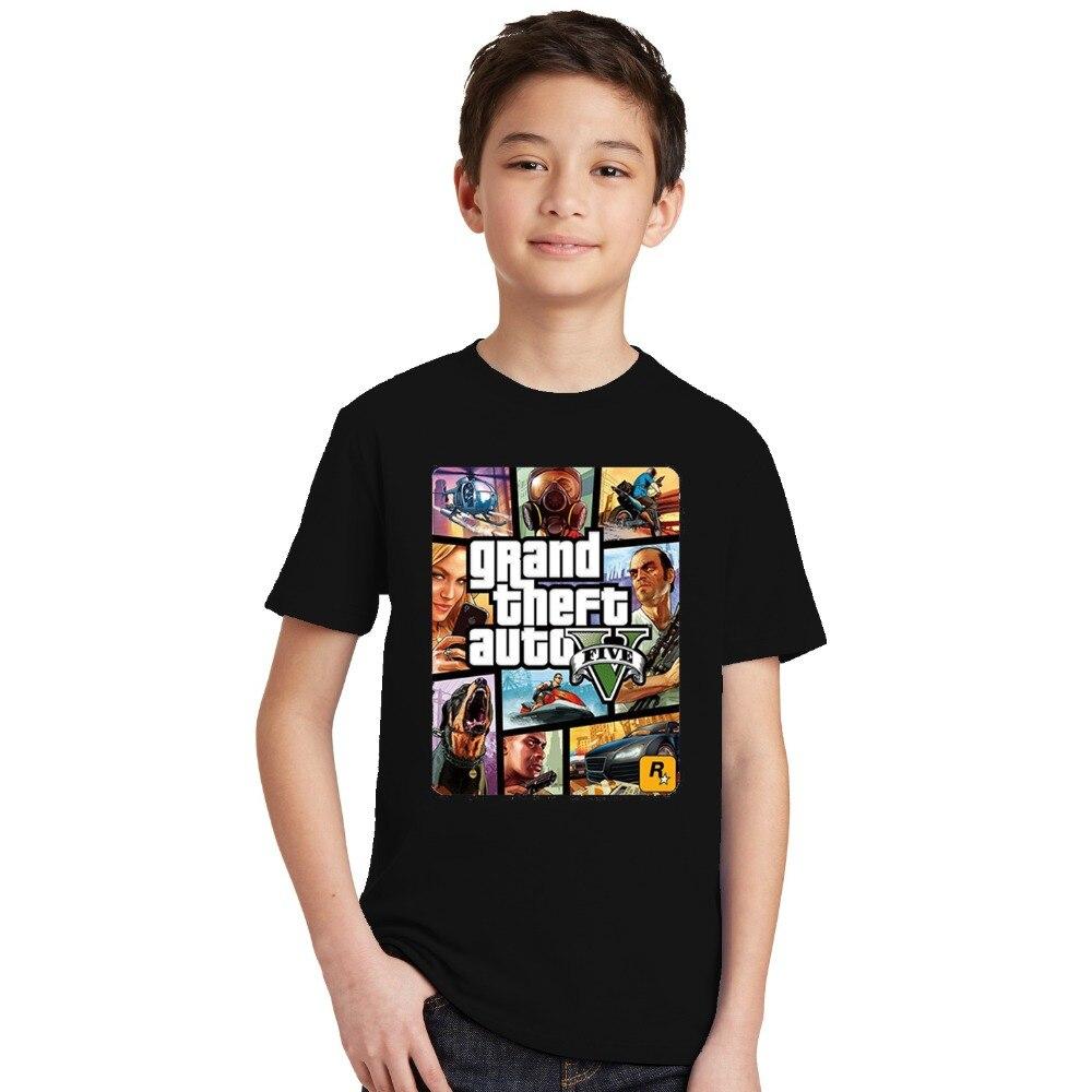 Summer Kids Boys Girls T Shirt 1 gta T-Shirt gta Street Fight Long with gta 5 clothes Children Tees Short Sleeve Kids clothing