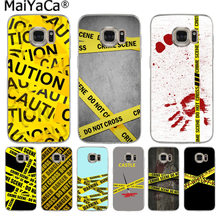 MaiYaCa Yellow bundle crime scene New Fashion Luxury phone case for Samsung S9 S9 plus S5 S6 S6edge S6plus S7 S7edge S8 S8plus(China)