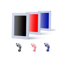 pudcoco Babyprints Newborn Infant Toddler Baby Handprint And Footprint Photo Frame Kit Touch Ink Pad Drawing