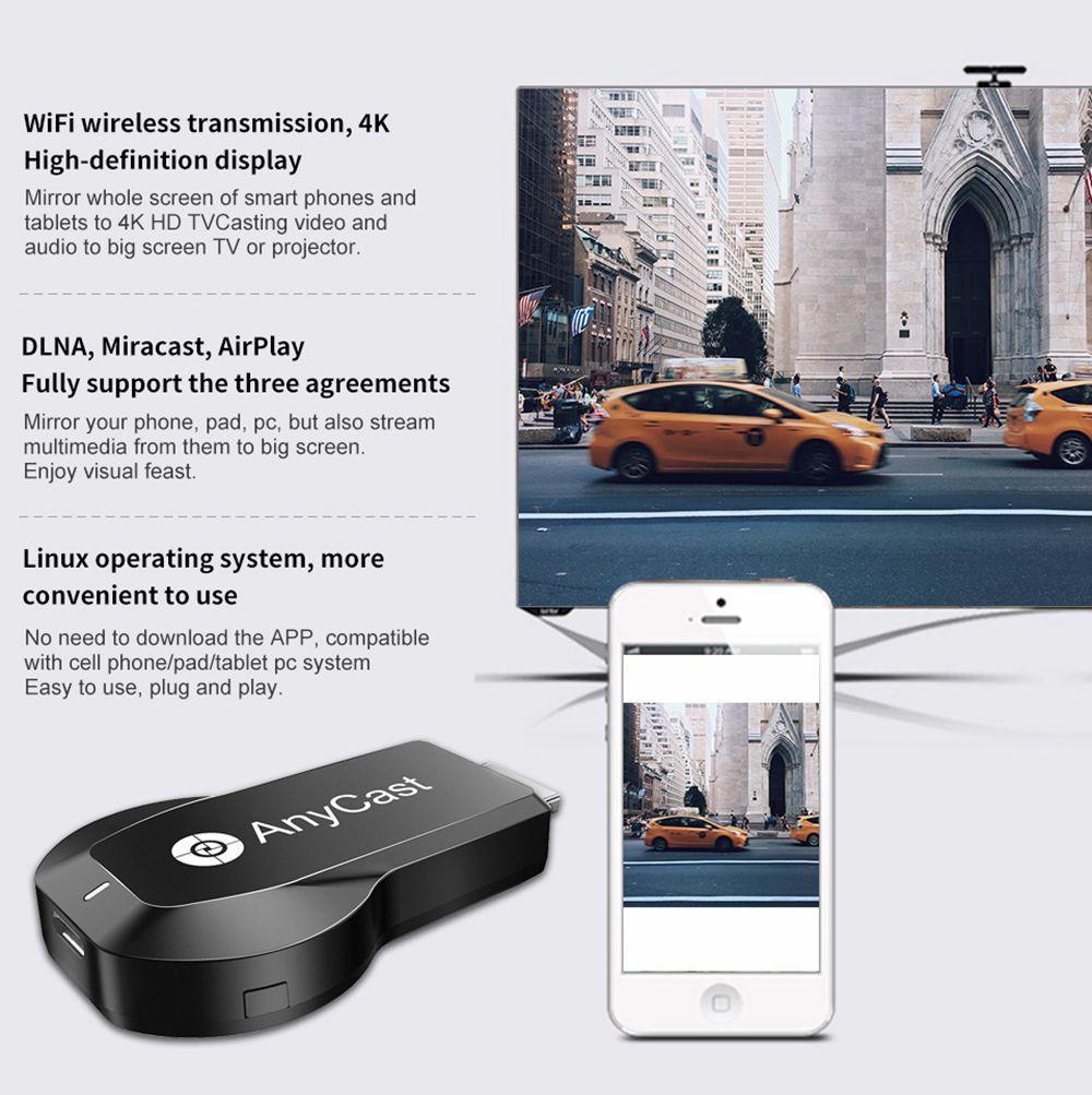 Best Anycast M100 Wireless Dongle Receiver TV Stick Dual Wifi 2 4G