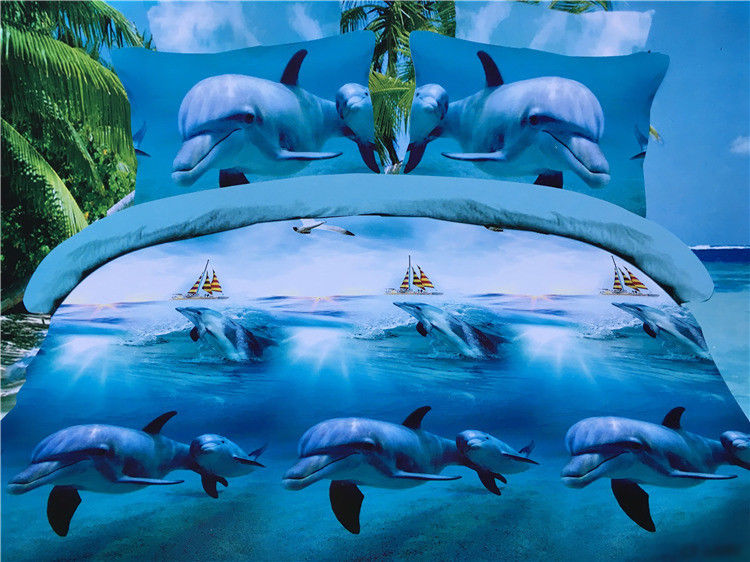 Double Size Animal Bedding Bed Set Sheet + Quilt Cover + Pillow Case Double Size Animal Bedding Bed Set Sheet + Quilt Cover + Pillow Case