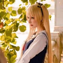 Saekano: Jak zvýšit nudnou přítelkyni Eriri Spencer Sawamura 70cm dlouhá rovná cosplay paruka pro ženy zlatá dráp