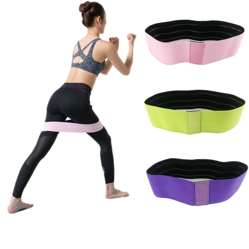 Cotton Hip Resistance Bands Booty Elastic Bands Exercise