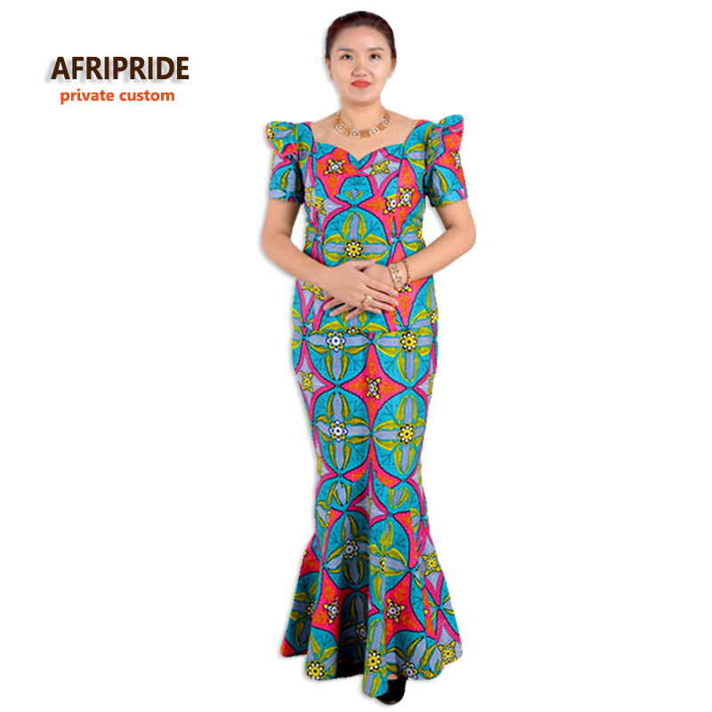 Sommarafrikanska klänningar för kvinnor tvådelade kostym - Nationella kläder - Foto 1