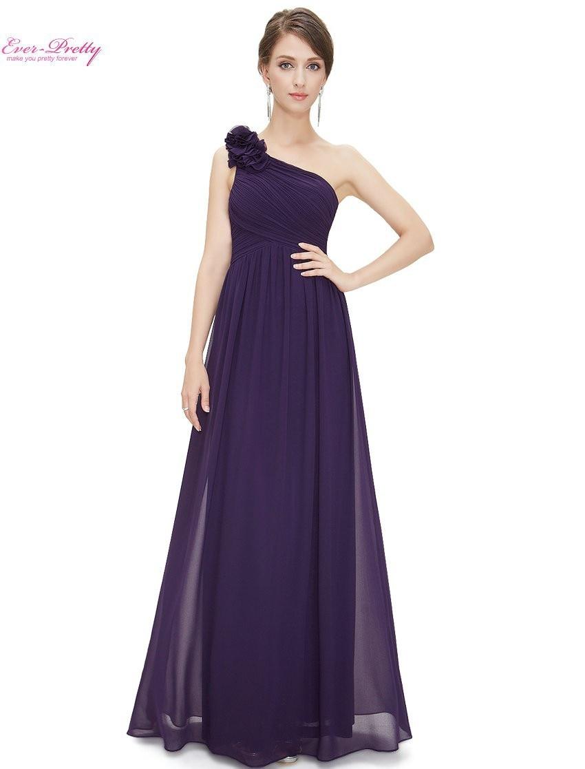 Vestidos de dama de honor Ever Pretty elegante EP08237 un hombro ...