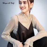 Weyes & Kelf Autumn Solid Camis Pu Vest Women 2018 Spring Loose Vest Women Short Crop Tops Black Backless Top Tank