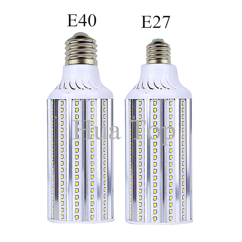 Bombillas LED Corn Bulb E27 E40 80W AC 85V-265V Lampada Aluminum LED Corn Light Bulbs SMD2835 LED Lamps Cold White Warm white energy efficient 7w e27 3014smd 72led corn bulbs led lamps
