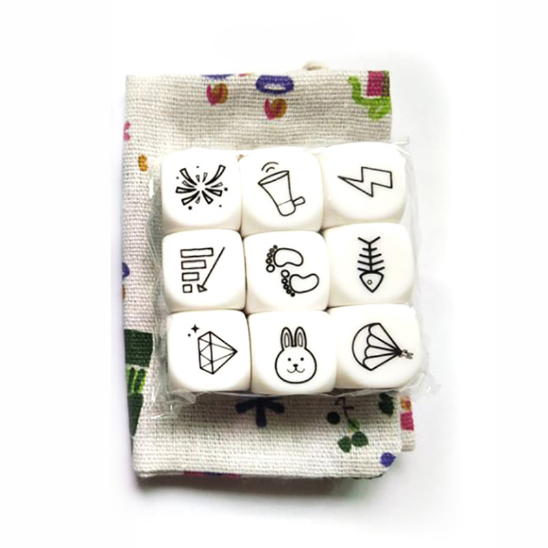 Telling Story Board Game Happy Story Dice/Bag Family Puzzle Game Increase Imagine For Children with InstructionsTelling Story Board Game Happy Story Dice/Bag Family Puzzle Game Increase Imagine For Children with Instructions