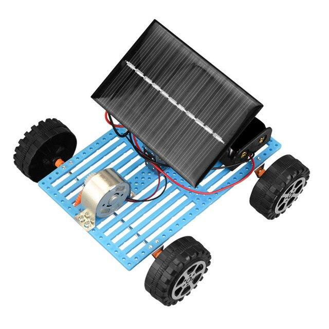 Educational Solar Car Powered by the Sun+Battery Double power Solar Powered Toys Car Kit Educational Science toys for boys 2