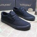 Продажа бесплатная доставка мужчины шос лето новое поступление хлопок - сделаны краткое свободного покроя мода сплошной цвет холсте мужской обуви свободного покроя обувь