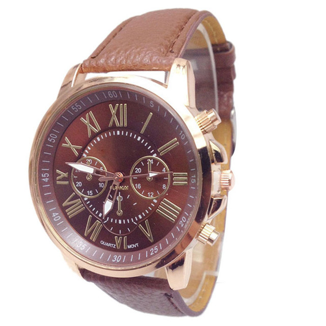 Best Selling Fashion Ladies Clock Women Geneva Numerals Leather Analog Hour Quartz Wrist Watch Female Wristwatches Relojes Mujer