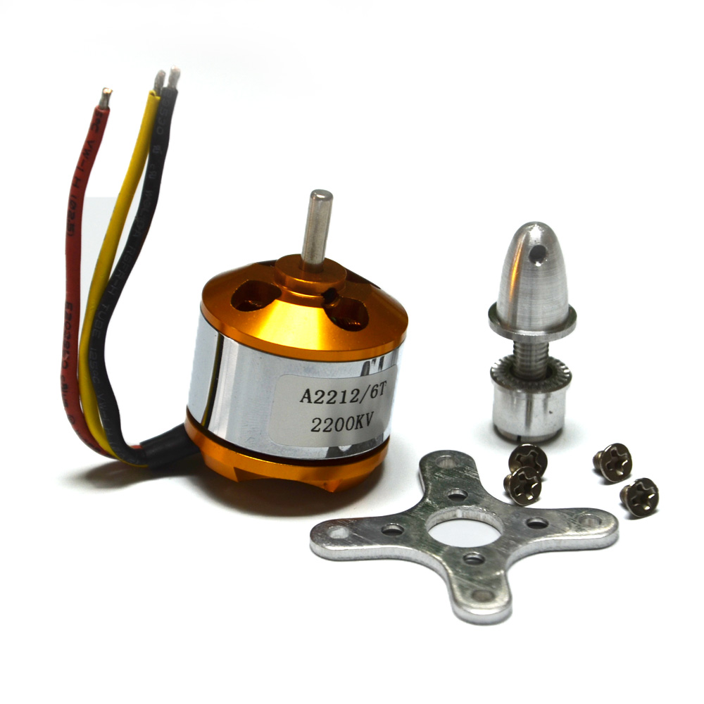 A2212 2200kv Brushless Outrunner Motor For RC Aircraft Plane Multi-copter 4pcs 6215 170kv brushless outrunner motor with hv 80a esc 2055 propeller for rc aircraft plane multi copter