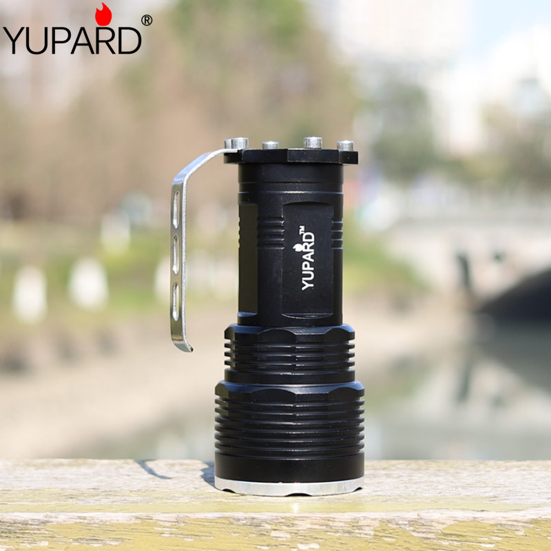 Купить с кэшбэком YUPARD XM-L2 T6 LED yellow white light camping Flashlight Torch long illumination Spotlight Searchlight outdoor fishing lamp