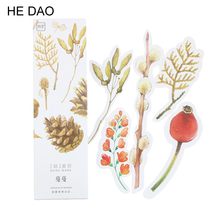 30 pcs/pack Colorful Plant Bookmark Paper Cartoon Original Bookmark Promotional Gift Stationery Bookmark Flowers