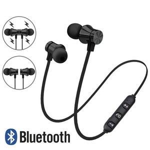 Image 1 - Kablosuz kulaklık manyetik Bluetooth kulaklık su geçirmez spor kulaklık kulakiçi Mic ile Xiaomi Redmi için not 8 Pro Umidigi F2