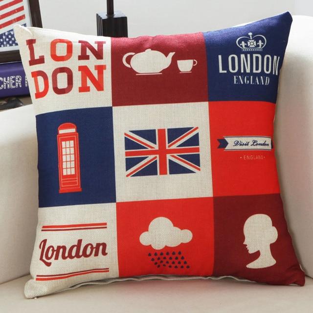 Arround the World Throw Pillowcase 1