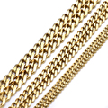 Custom ANY Length 4/5/7mm Gold Curb Mens Chain Boys Stainless Steel Necklace Fashion Jewelry