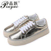 woMen Shoes Sneakers Gold Sliver Breathable woMan Casual Shoes Zapatillas Hombre Comfortable Bright Flat Shoe Chaussures