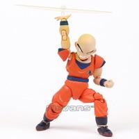 SHF S. H. Figuarts Dragon Ball Z Krilin Klilyn Joint Movable Figura de Acción de Colección Modelo de Juguete 12 cm