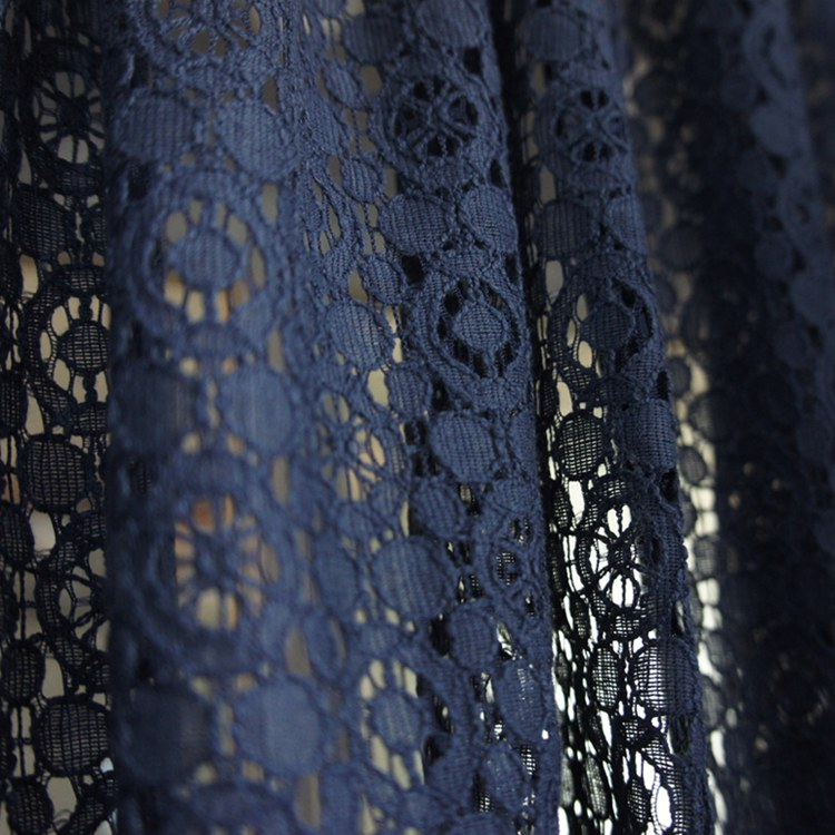 Navy Blue Lace Kitchen Curtain Short In Curtains From Home Garden On Aliexpress Alibaba Group