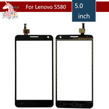 10pcs/lot 5.0 For Lenovo S580 S 580 LCD Touch Screen Digitizer Sensor Outer Glass Lens Panel Replacement