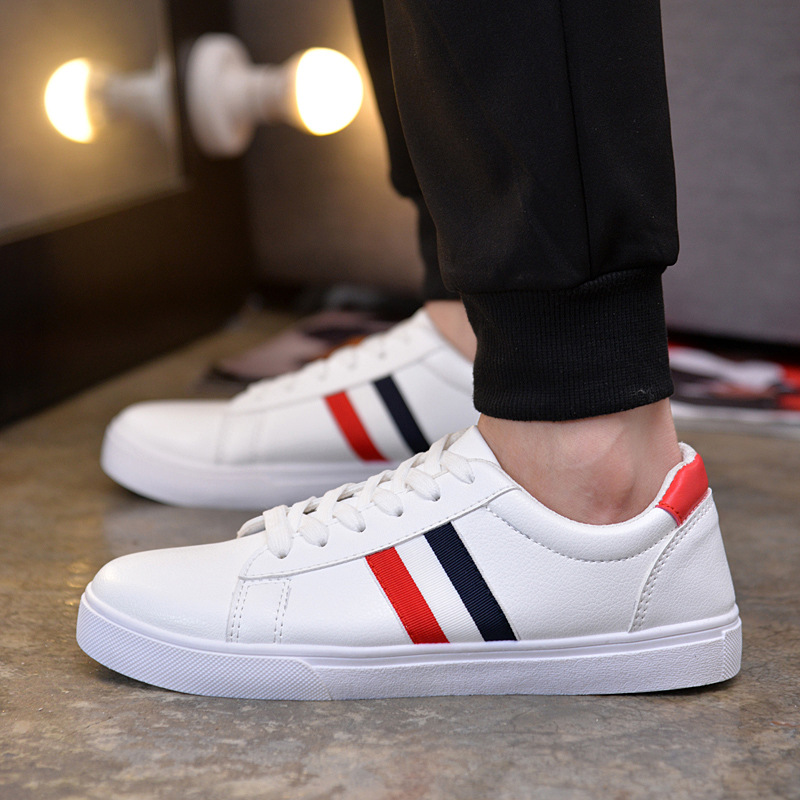 New 2018 European Lace up Cool men shoes Classic New brand Spring/Autumn men sneakers breathable light comfortable men flats 2018 brand new spring autumn 100
