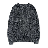 AILOOGE New 2017 Fall Winter Fashion Men S Mix Color Knit Sweaters AndAutumn Style Vintage Grey