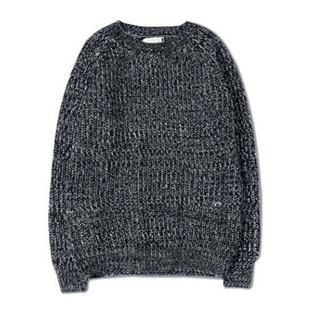 AILOOGE New 2017 Fall Winter Fashion Men's Mix Color Knit Sweaters AndAutumn Style Vintage Grey Jersey Jumpers Man