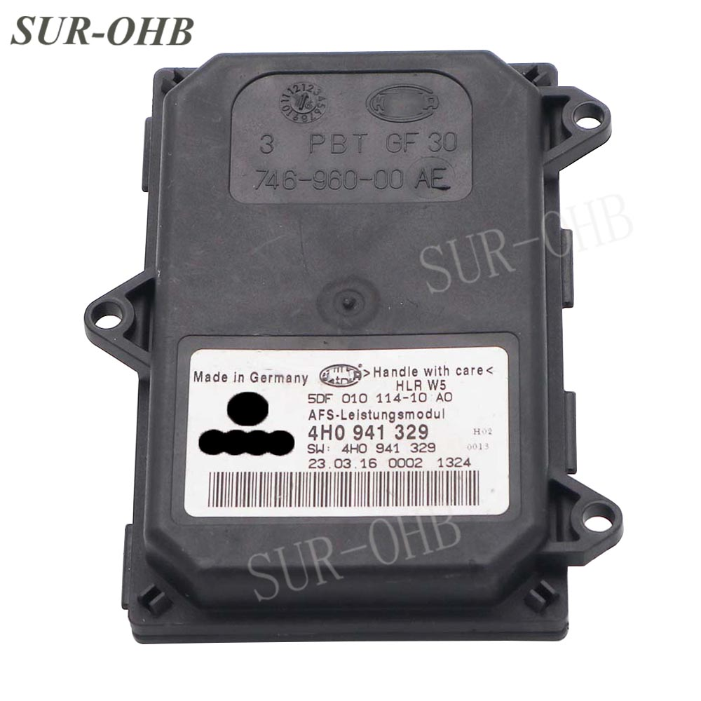 4HO941329 Tou areg 7P 2010 AFS Leistungsmodul Control Unit Module Insert 5DF010114 10 Ballast 4H0 941