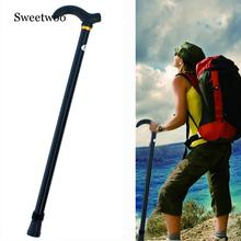1pc Retractable Anti Shock Walking Sticks Telescopic Trekking Hiking Poles Ultralight Sports Camping Mountaineering Crutch adjustable folding cane with carrying case black ultralight nordic walking sticks telescopic trekking poles anti shock