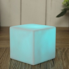 New 7 Color LED Colorful Changing Mood Cubes Night Glow Lamp Light Gadget Gizmo Home Decor Romantic Lighting