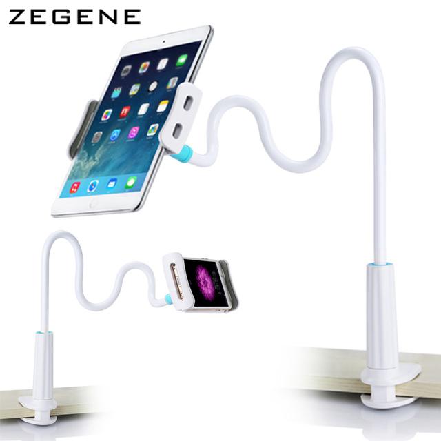 360 graus Flexível Braço pad mesa estande titular Desktop Cama tablet suporte de montagem para ipad 4 para 10.5 polegada tablet e telefone