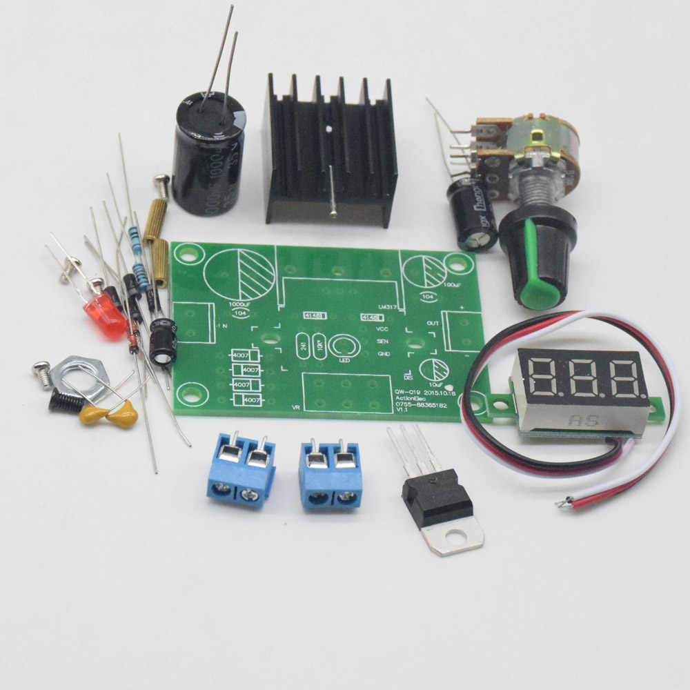 Detail Feedback Questions About Cnikesin Diy Lm317 Adjustable Circuit Capacitor Question Voltage Power Board Kit Production Electronic Large Secondary School Graduation