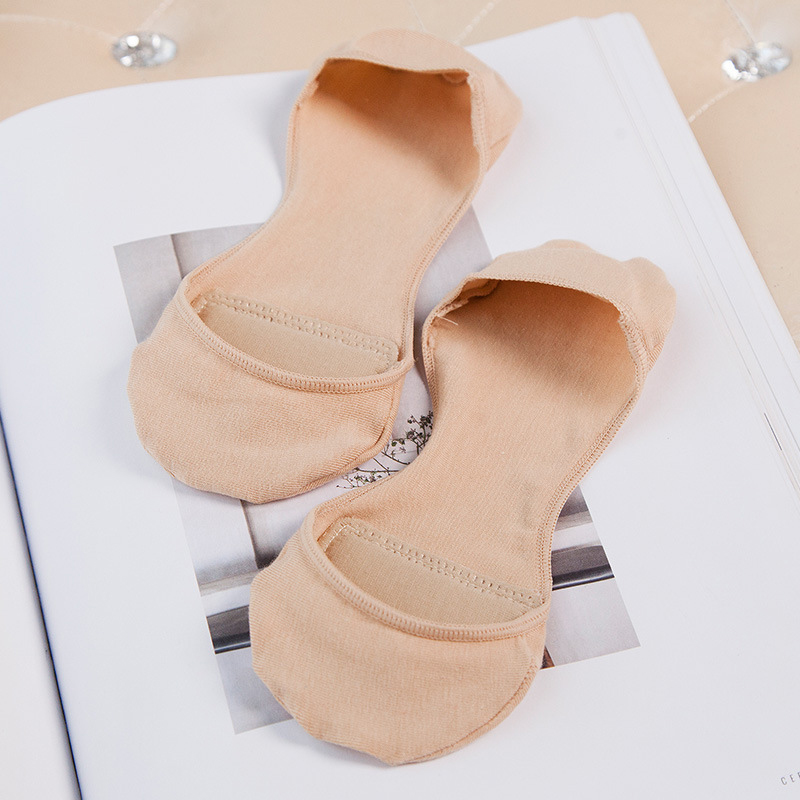 SP&CITY Solid Summer Thin Boat Socks Women Invisible High Heels Socks Slippers Soft Breathable Cotton Low Short Socks Ped