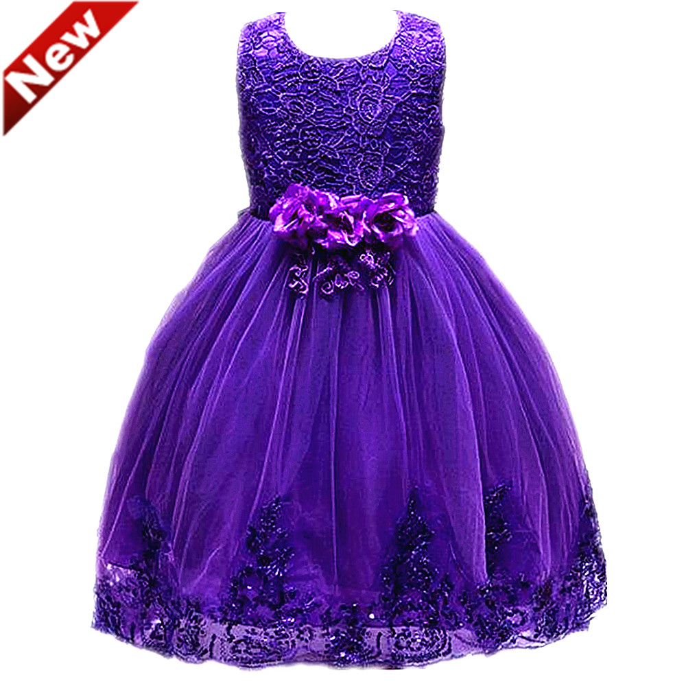 Summer Dress For Girls Party Wedding Dresses Bow Flower Lace Dress Teenager 14 Years Ball Gowns