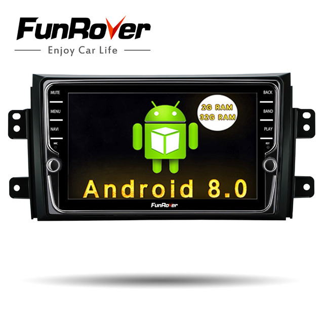 Funrover IPS Android 8.0 Car dvd multimedia Player for Suzuki SX4 2006-2013 head unit Car Radio GPS Navigation Stereo 2 din dvd