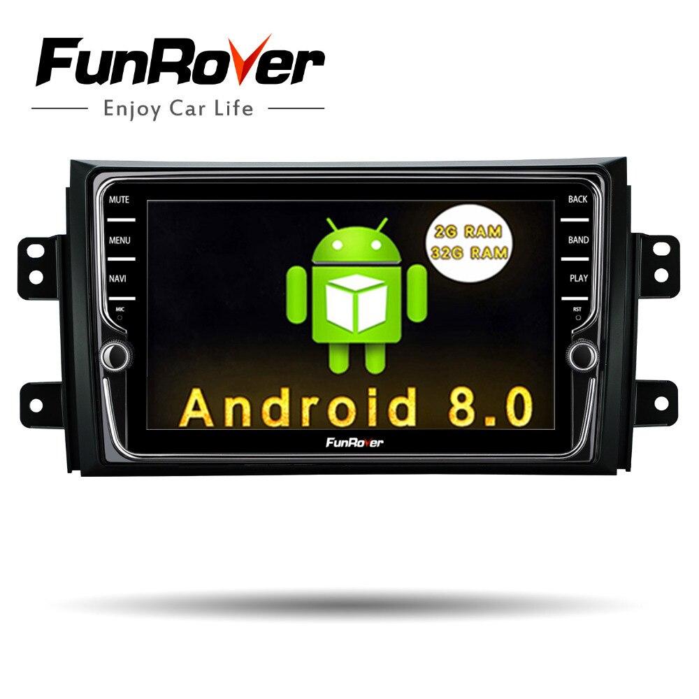 Funrover IPS Android 8.0 dvd de Voiture Lecteur multimédia pour Suzuki SX4 2006-2013 unité de tête De Voiture Radio GPS Navigation stéréo 2 din dvd