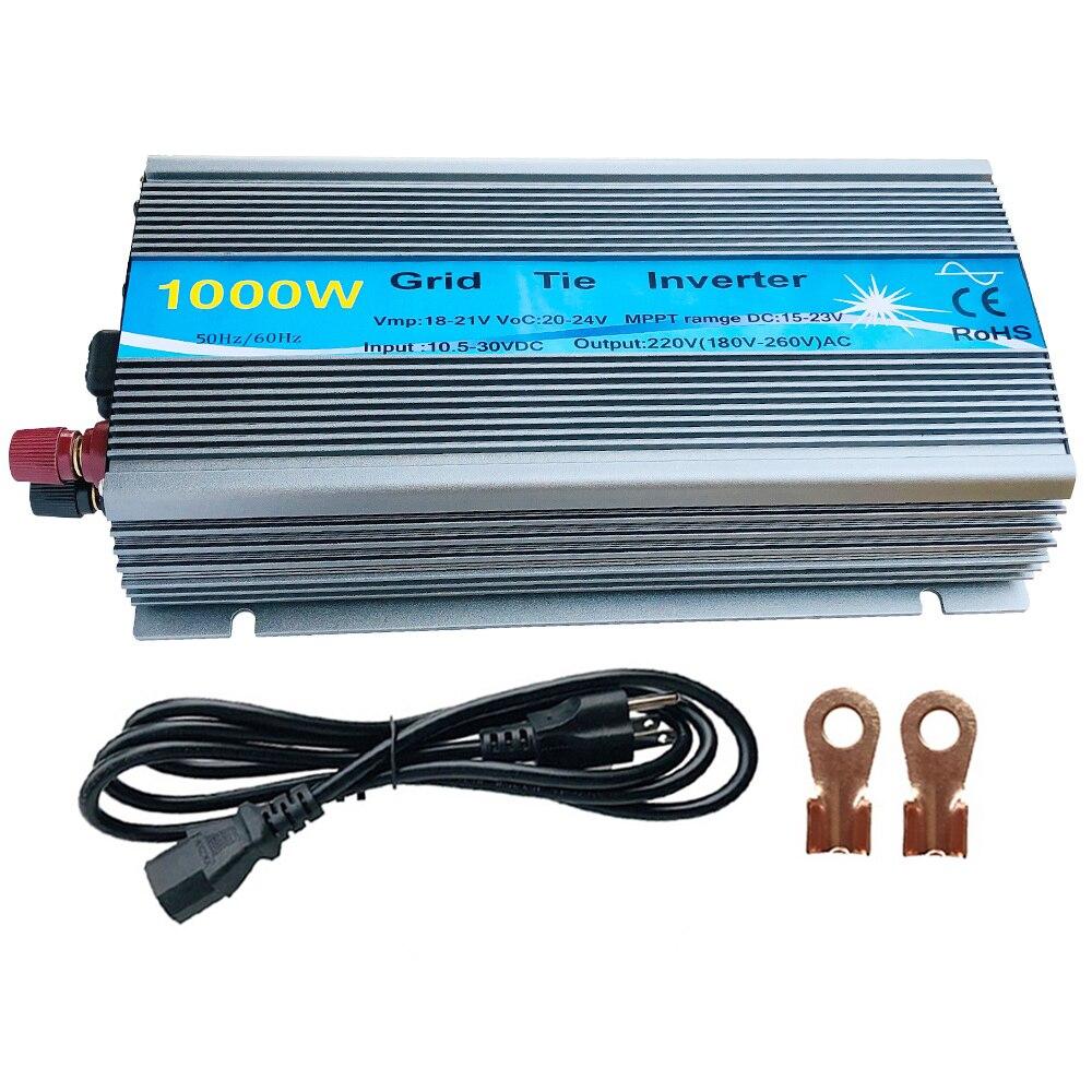 Free 1KW 30V 36V Grid Tie Inverter MPPT Function Pure Sine Wave 110V Or 230V Output